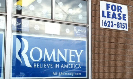 Romney campaign office in New Hampshire