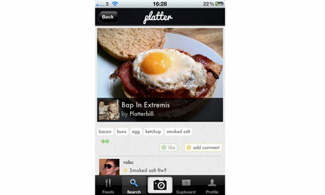 Platter food photography sharing app