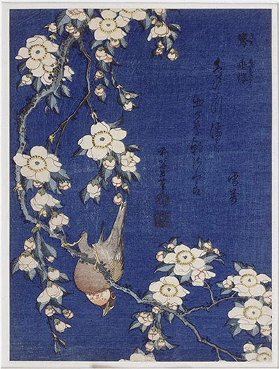 10 Best: Bullfinch on Weeping Cherry by Hokusai