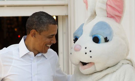 Obama and Easter bunn