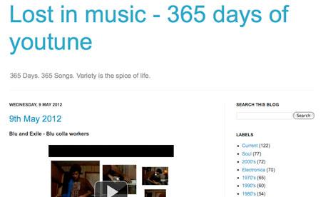 Music blog 365 Days of Youtune