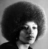 Angela Davis sporting an afro in 1964. Photograph: Everett Collection ...