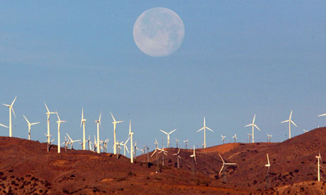 a wind farm in california