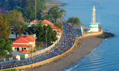Runners in the inaugural seven-kilometre Peace Run that was part of the Dili marathon in 2011