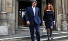 Rebekah Brooks leaves the Leveson inquiry with her husband, Charlie