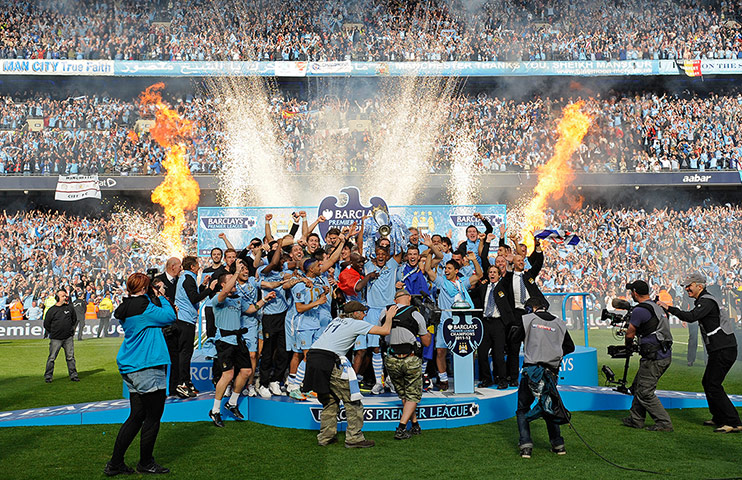 Manchester City V QPR The Remarkable Finale In Pictures