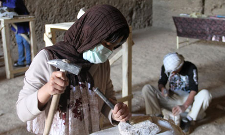 Stone carvers defy Taliban to return to the Bamiyan valley  Afghan students learn the centuries-old skills that carved out the giant buddhas blown up by extremists