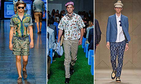 Prints for men, by D&G, Prada and Burberry Prorsum