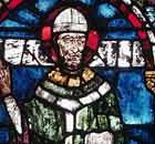Stained glass window in Canterbury Cathedral depicting Thomas Becket