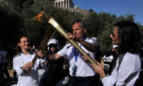 London Olympic Torch Relay in Athens