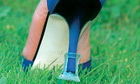 Stiletto on grass