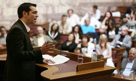 Alexis Tsipras, the leader of Syriza