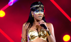 Singer Rihanna performs at the Robin Hood Foundation Benefit in New York on 14 May