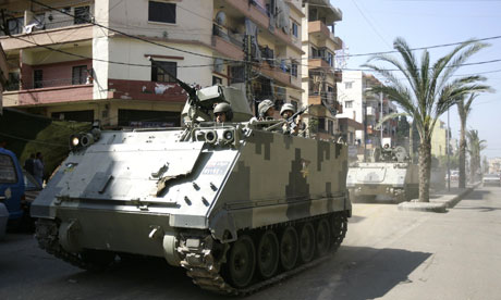 Lebanese army troops Tripoli