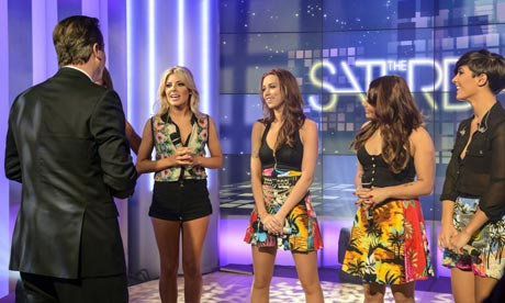 David Cameron meets The Saturdays on Daybreak