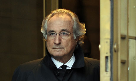 Bernard Madoff confessed to operating a giant Ponzi scheme. Photograph: Timothy A Clary/AFP/Getty Images