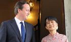 David Cameron met Aung San Suu Kyi