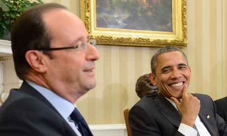 Barack Obama and François Hollande