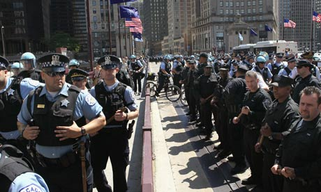 Chicago police Nato summit protest