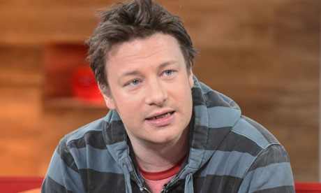 Jamie Oliver, casual pose, in hoodie