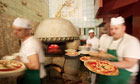 Cooks Busy Preparing Pizza at Trianon Pizzeria