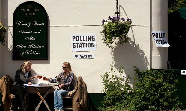 The Anglesea pub in west London, which was a polling station for the 2010 general election.