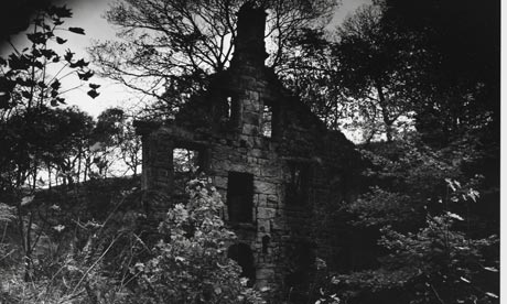 Photo by Fay Godwin of a crumbling brick building, from Ted Hughes's book Remains of Elmet