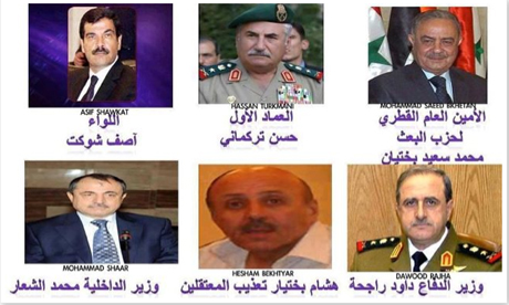Six members of Syria regime the FSA claims to have killed
