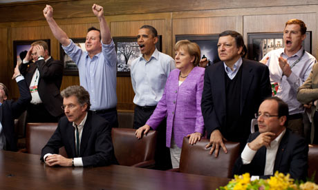 Champions League penalty shootout g8 summit david cameron