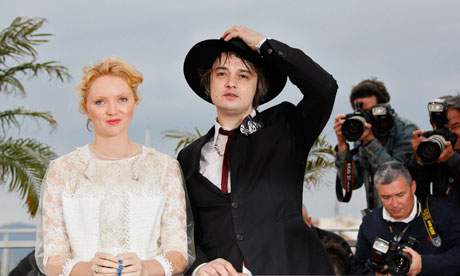 Pete Doherty and Lily Cole pose at the photocall for Confession of a Child of the Century