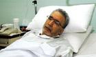 Abdelbaset al-Megrahi in hospital in Tripoli