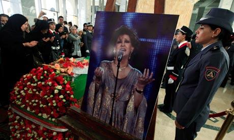 Warda al-Jazairia funeral