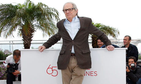 Loach poses at the photocall for The Angel's Share