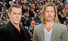 Ray Liotta and Brad Pitt pose during the photocall for Killing Them Softly