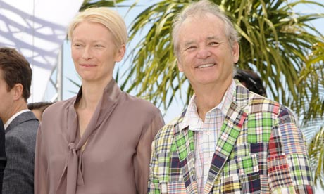 Tilda Swinton and Bill Murray