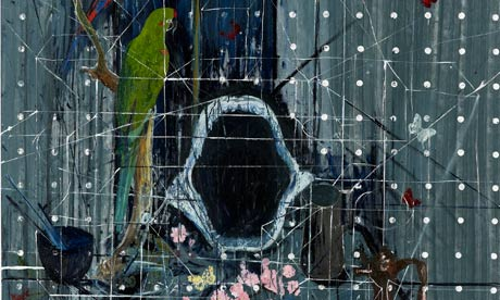 Two Parrots by Damien Hirst