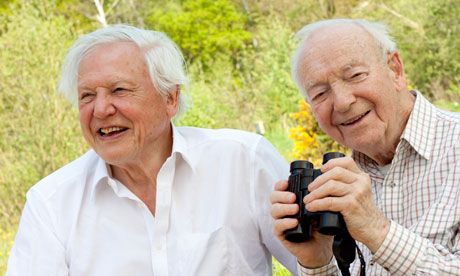 David Attenborough presents award to old friend Ted Smith