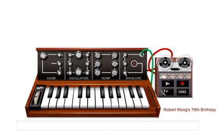 Robert Moog Google Doodle