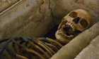 Gnawed Roman skeleton that inspired Sylvia Plath poem goes on display