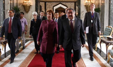 Hoshyar Zebari and Catherine Ashton in Baghdad