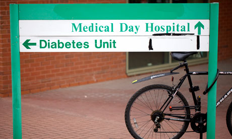 Diabetes Unit hospital sign