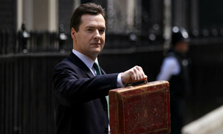 George Osborne with budget briefcase