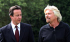 David Cameron and Richard Branson