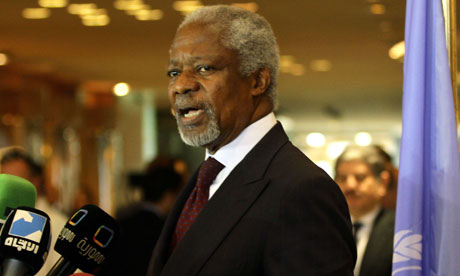UN-Arab League peace envoy Kofi Annan in Damascus