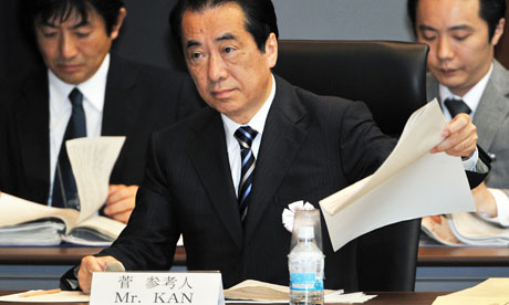 Former Japanese prime minister Naoto Kan
