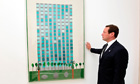 Ed Vaizey with David Hockney painting