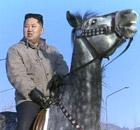 Kim Jong-un on horseback
