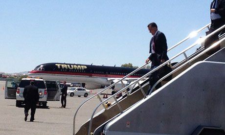 Mitt Romney Donald Trump plane