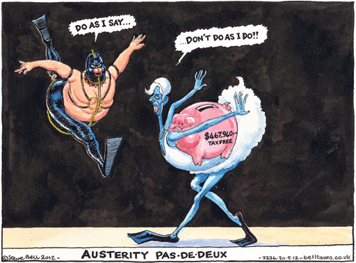 Steve Bell cartoon, 30.05.2012