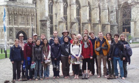 Group photo outside Canterbury cathedral